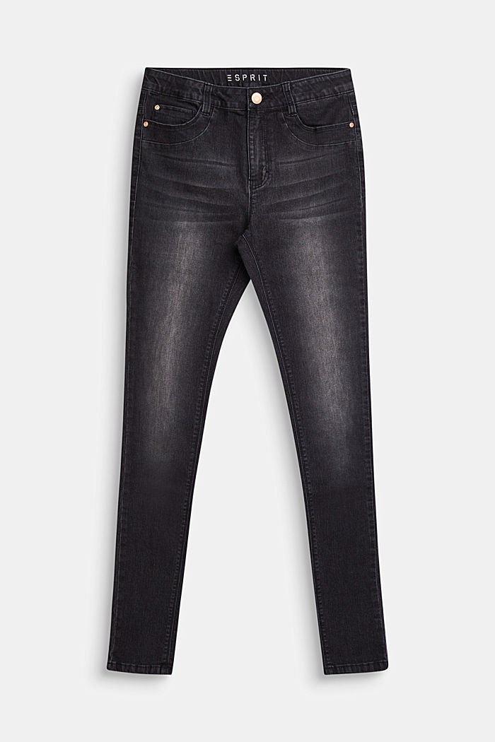 Black stretch jeans with an adjustable waistband, LCBLACK, detail image number 0