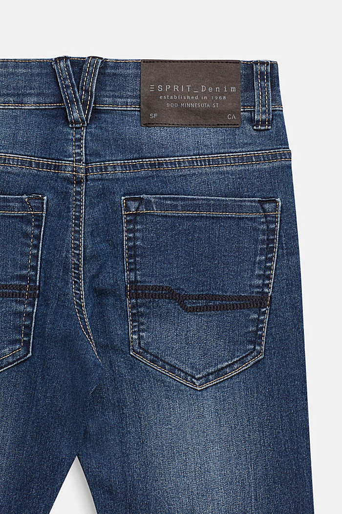 Stretch jeans with an adjustable waist, MEDIUM WASHED DENIM, detail image number 3