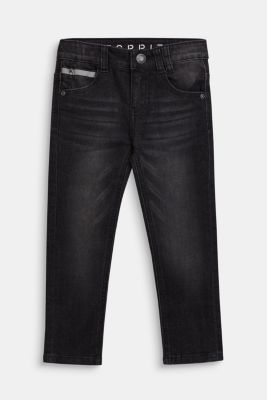 Stretch jeans with reflector details, BLACK, detail