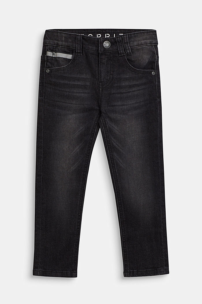 Stretch jeans with reflector details, BLACK, detail image number 0