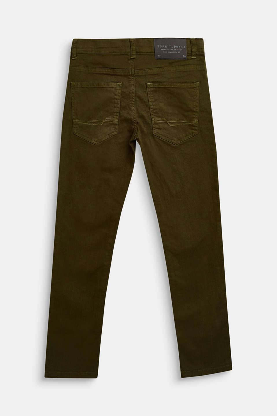 Coloured stretch jeans, adjustable waistband, LCKAKI, detail image number 1
