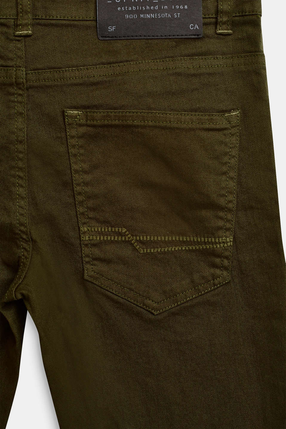 Coloured stretch jeans, adjustable waistband, LCKAKI, detail image number 3