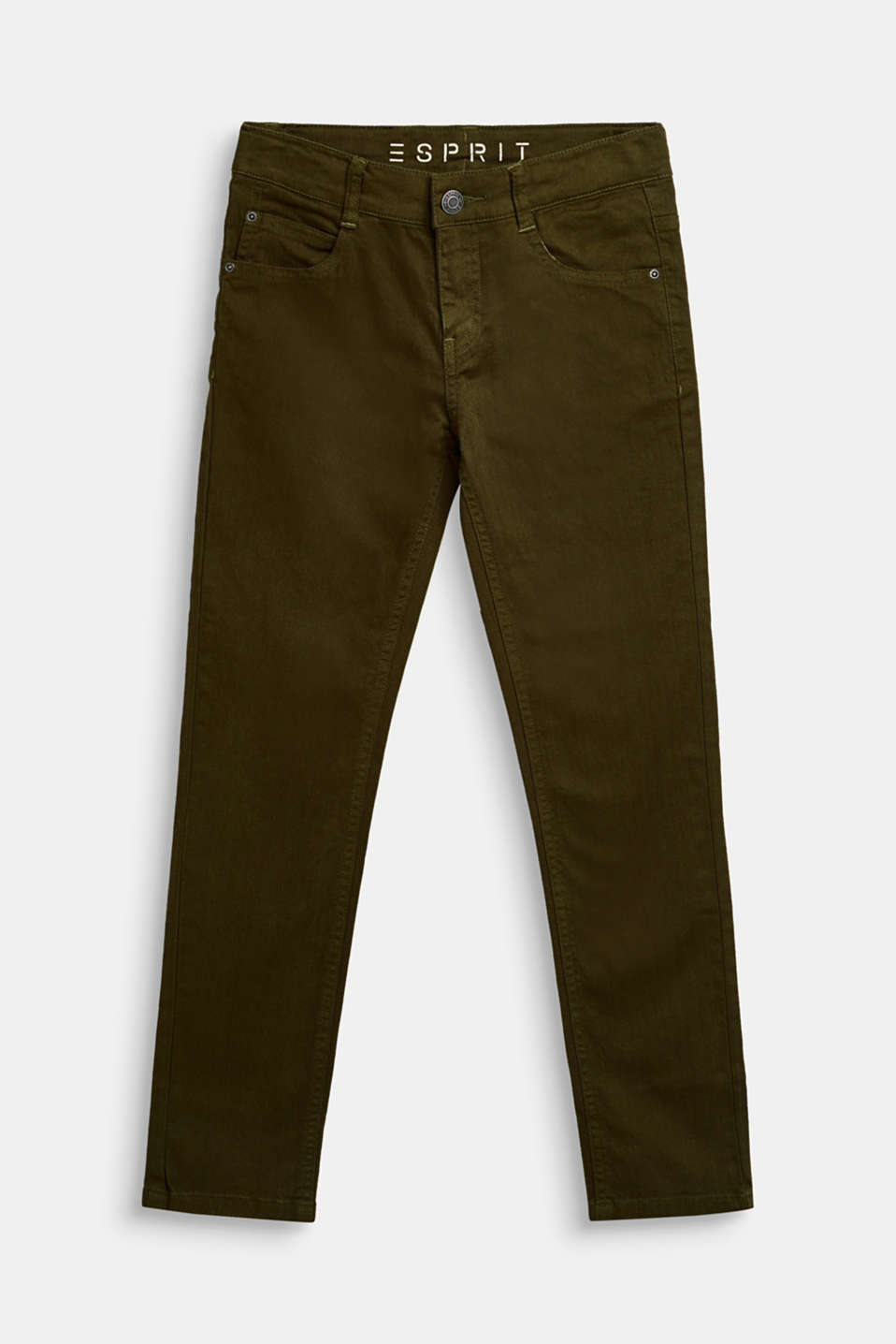 Esprit - Coloured stretch jeans, adjustable waistband