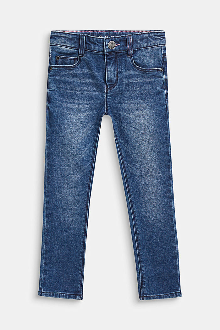 Stretch-Jeans mit Washed Out-Effekt, DARK INDIGO DE, detail image number 0