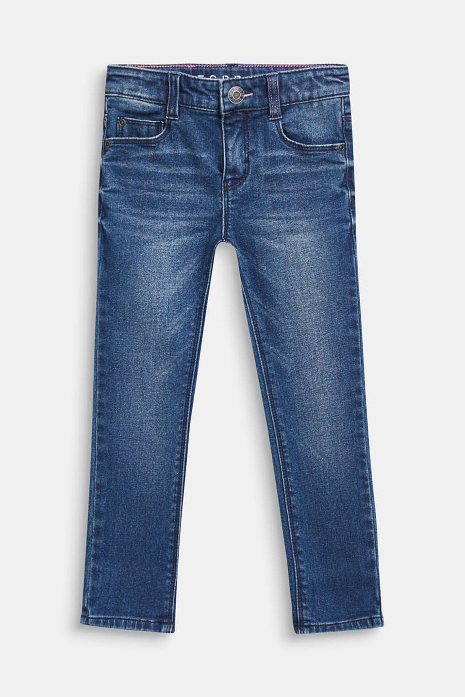 Stretch jeans with washed-out effects, DARK INDIGO DE, detail image number 0