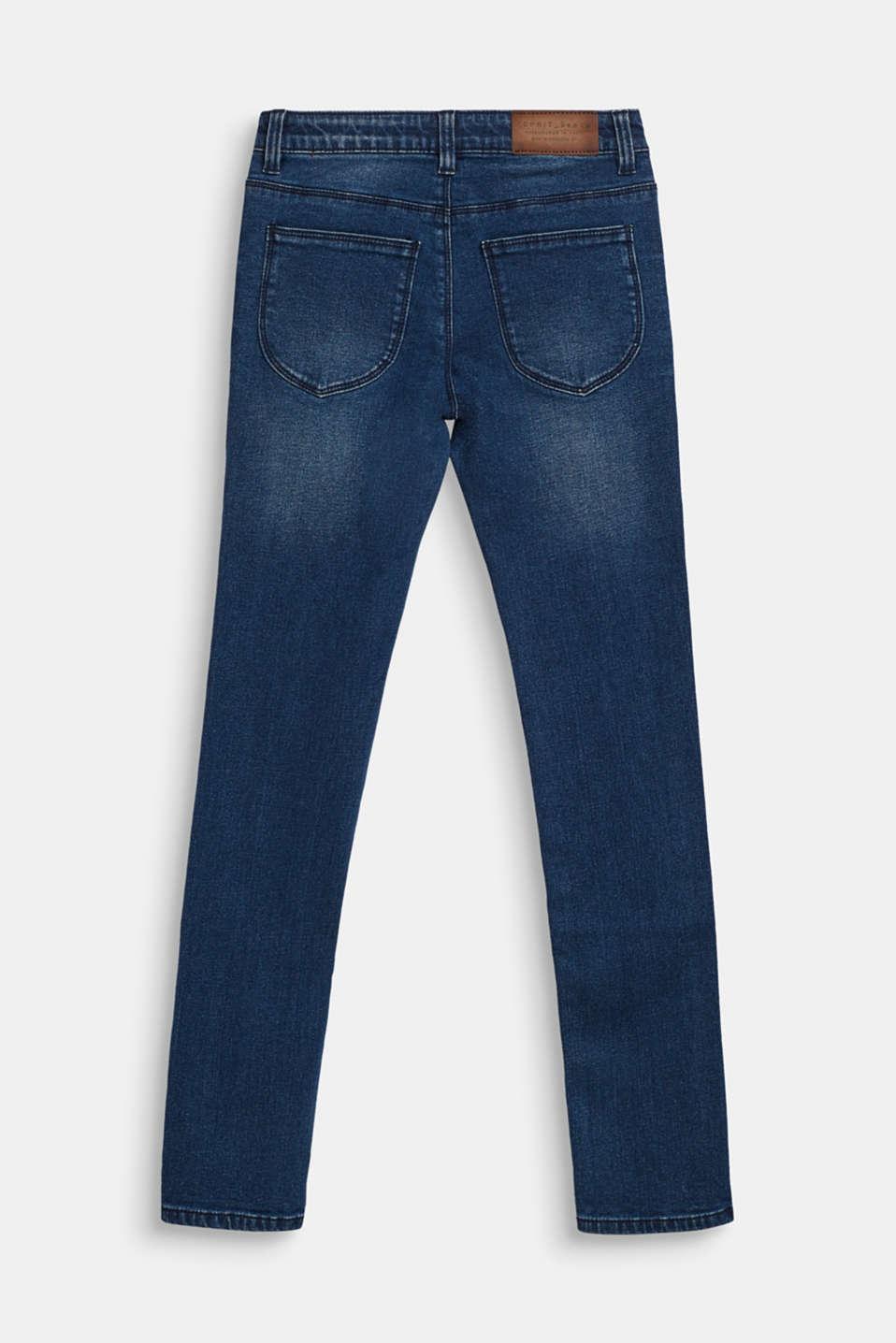 Stretch jeans with soft lining, LCDARK INDIGO DE, detail image number 1
