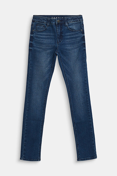 Stretch jeans with soft lining