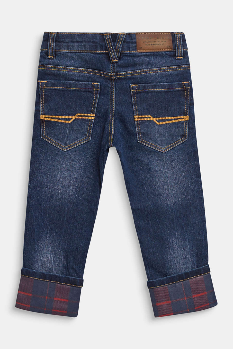 Super stretch jeans with turn-up hems, MEDIUM WASH DE, detail image number 1