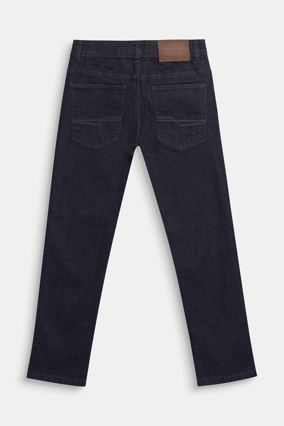 Dark blue stretch jeans with adjustable waistband, DARK INDIGO DE, detail image number 1