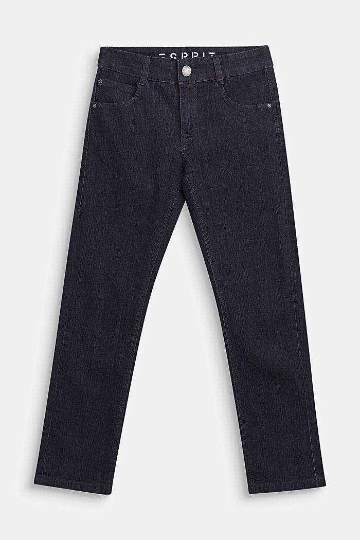 Dunkelblaue Stretch-Jeans mit Verstellbund, DARK INDIGO DE, detail image number 0