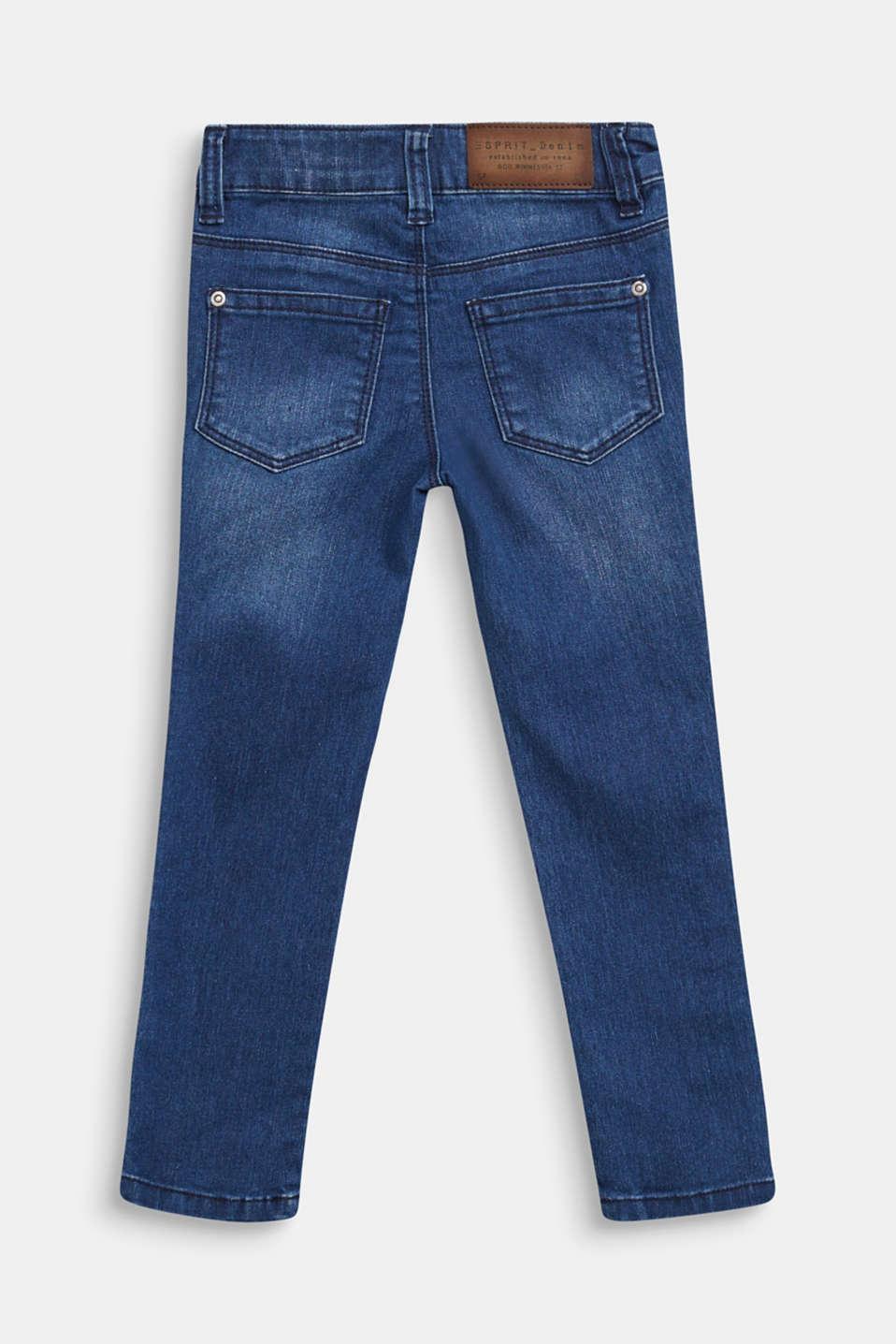 Jeans with glittering side stripes, DARK INDIGO DE, detail image number 1