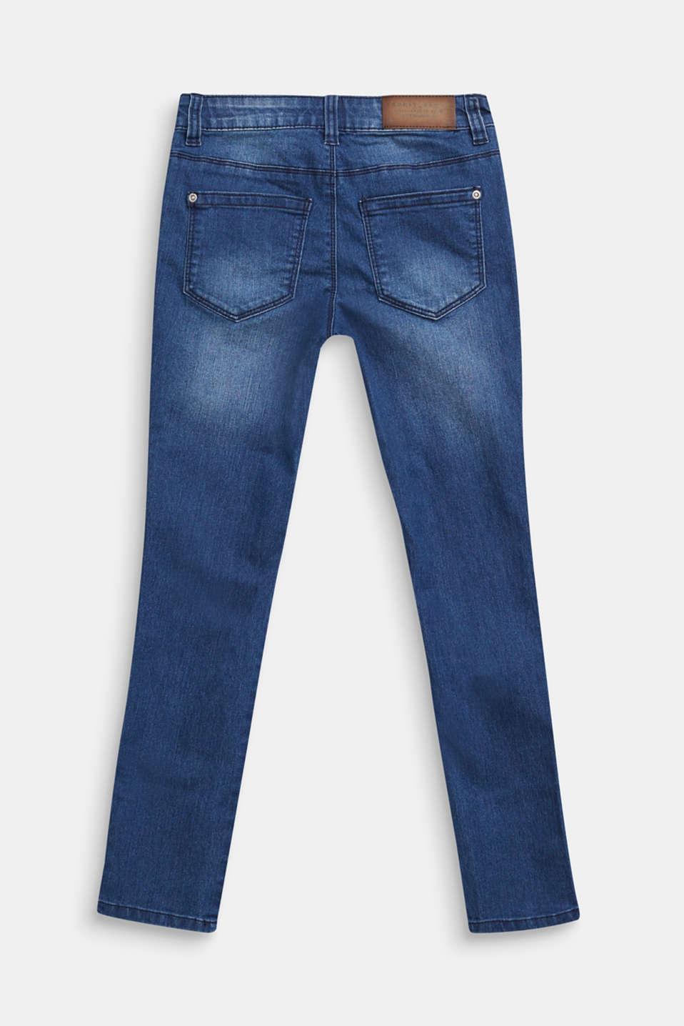 Jeans with glittering side stripes, LCDARK INDIGO DE, detail image number 1