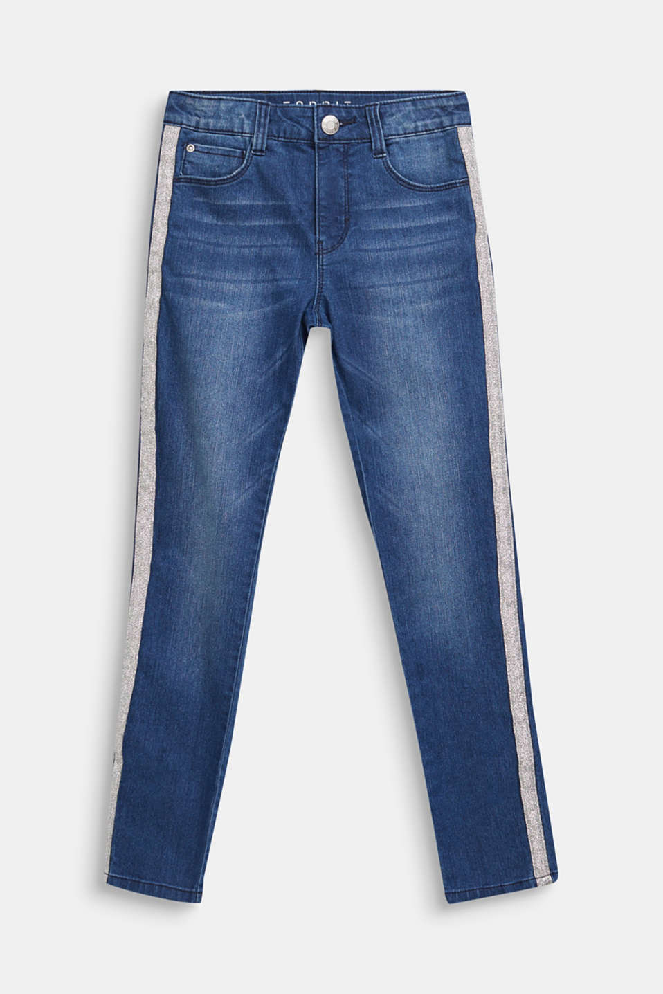 Esprit - Jeans with glittering side stripes