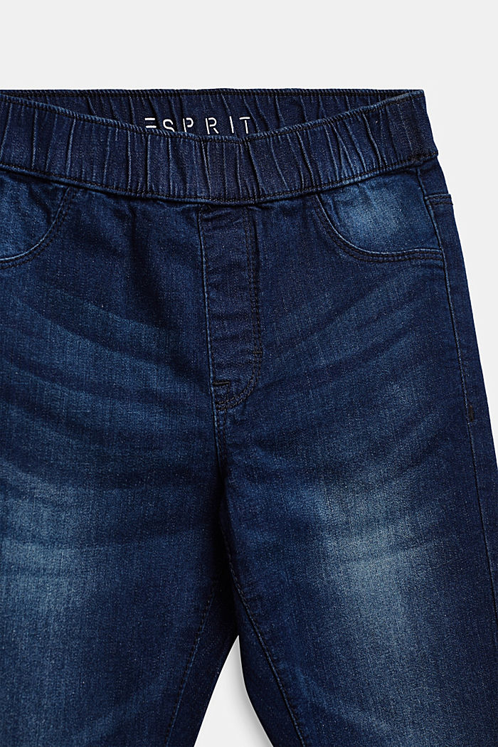 Super stretchy jeggings with a washed-out look, DARK INDIGO DENIM, detail image number 2