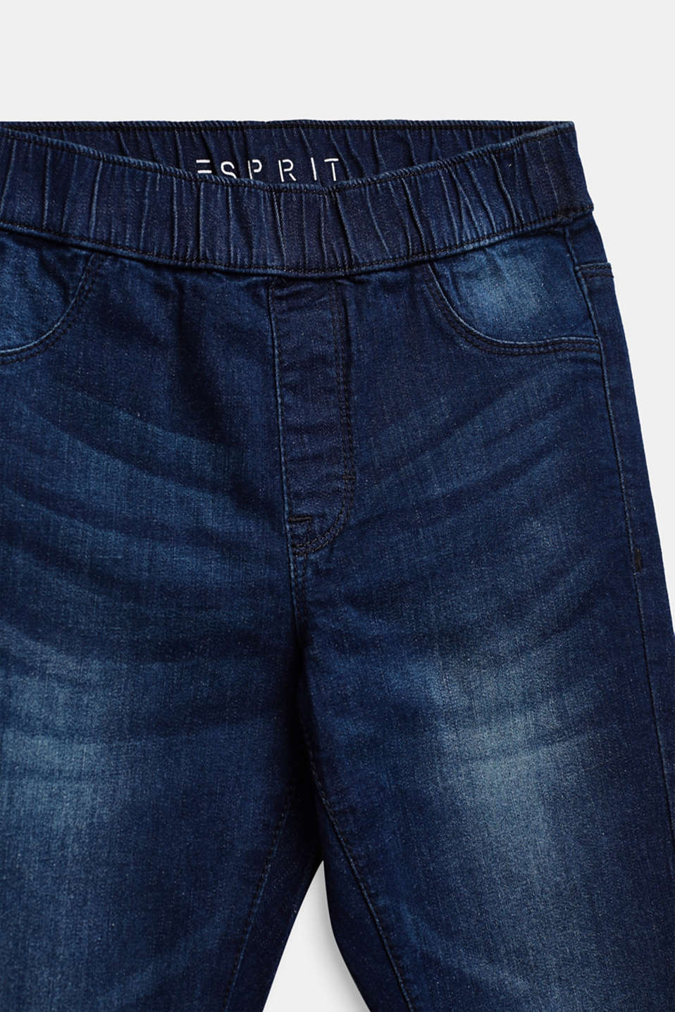 Super stretchy jeggings with a washed-out look, LCDARK INDIGO DE, detail image number 2