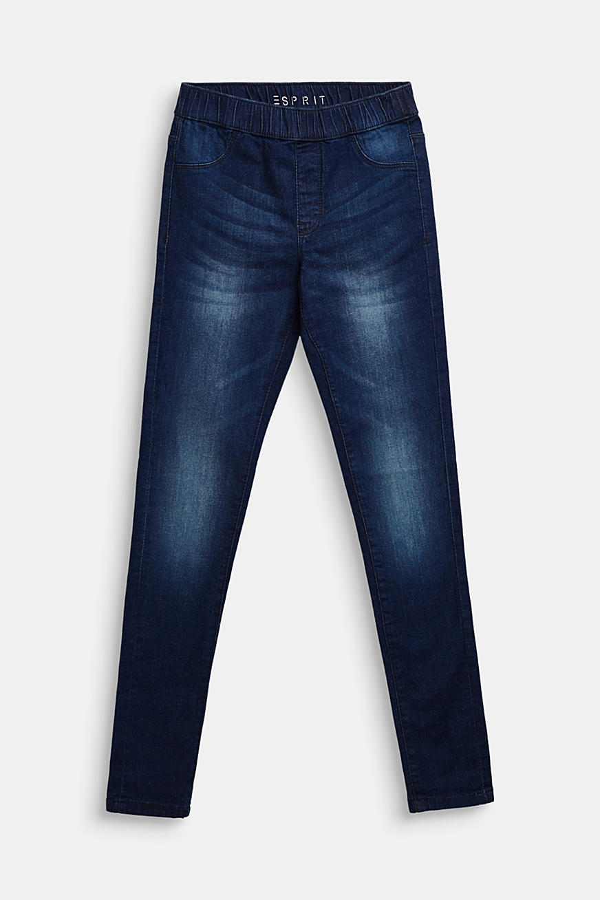Jegging met superstretch en washed-outlook