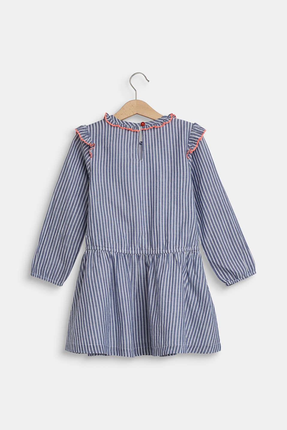 Dress with frills, 100% cotton, MARINE BLUE, detail image number 1