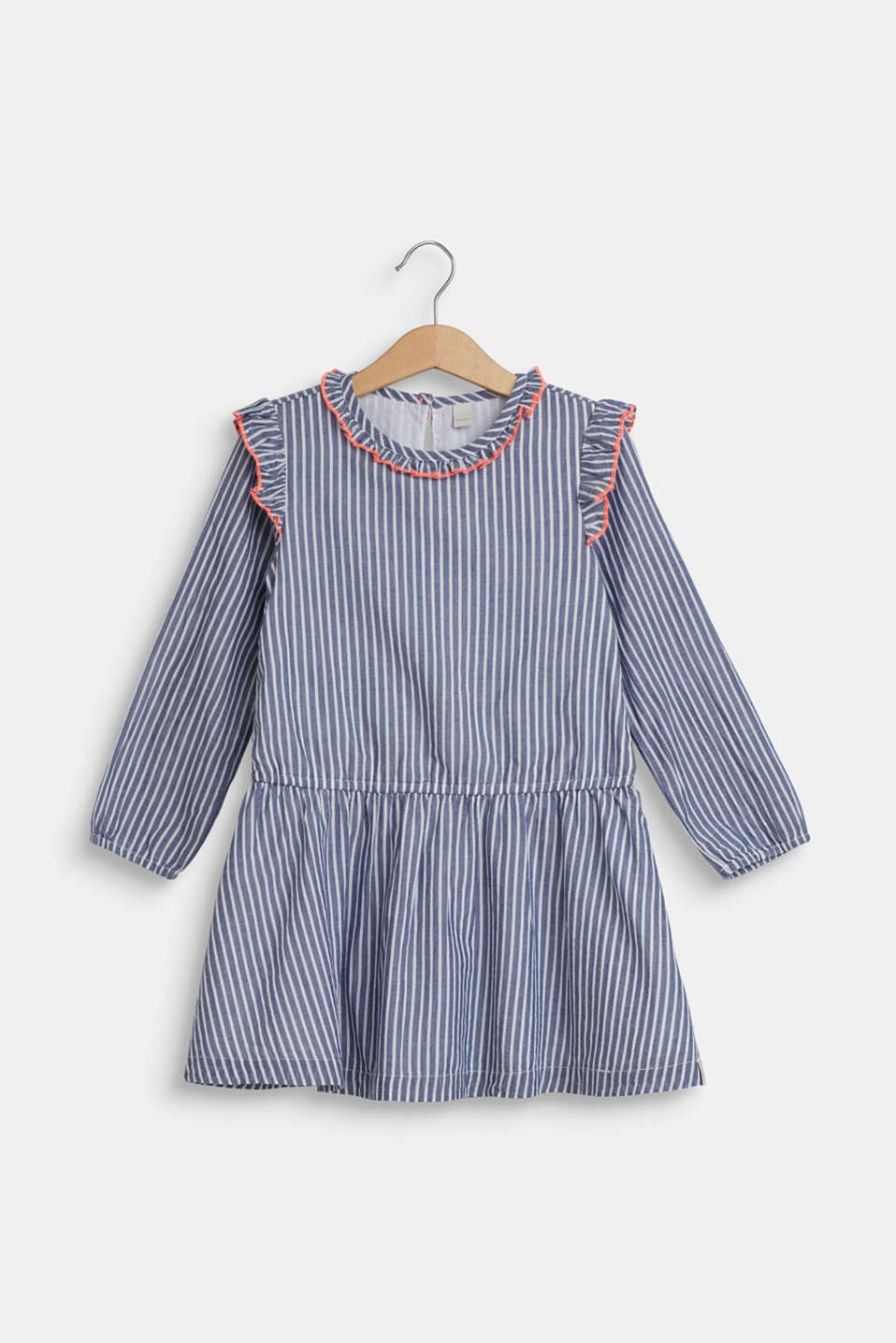 Esprit - Dress with frills, 100% cotton