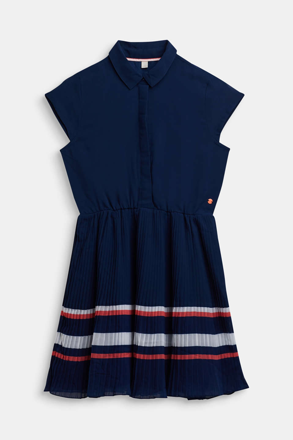 Esprit - Plissé dress in chiffon