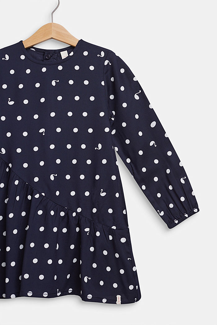 Polka dot dress with a flared skirt, NAVY BLUE, detail image number 2