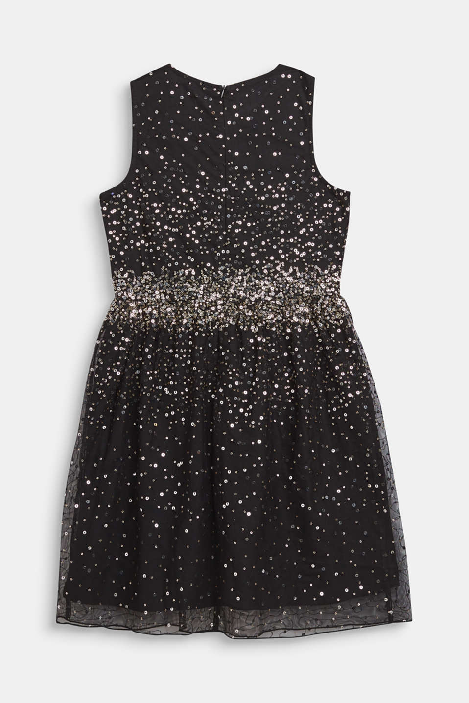 Tulle dress with sequins and cotton lining, LCBLACK, detail image number 1