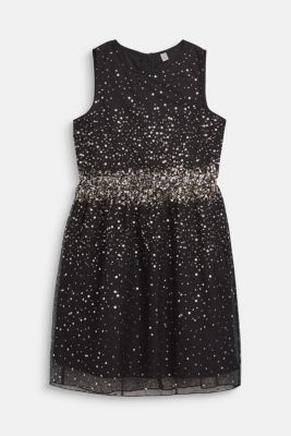 Tulle dress with sequins and cotton lining, LCBLACK, detail