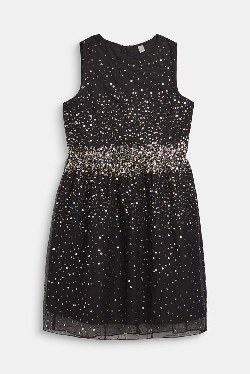 Tulle dress with sequins and cotton lining, LCBLACK, detail image number 0