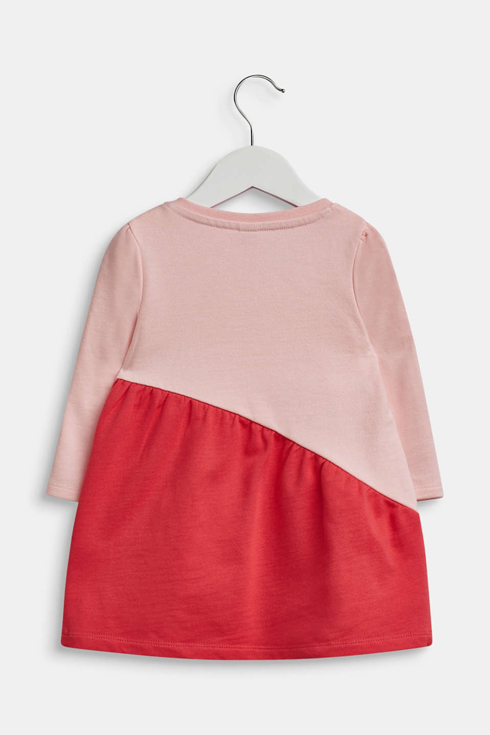 Striped sweatshirt dress, 100% cotton, LCTINTED ROSE, detail image number 1