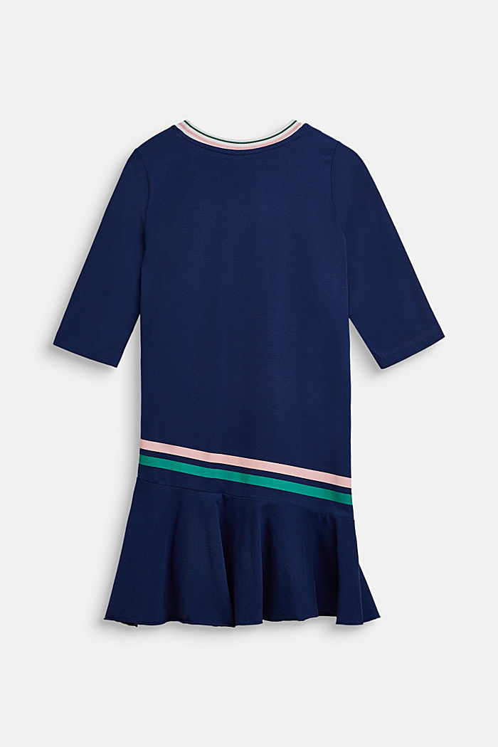 Jersey dress with stretch, MARINE BLUE, detail image number 1