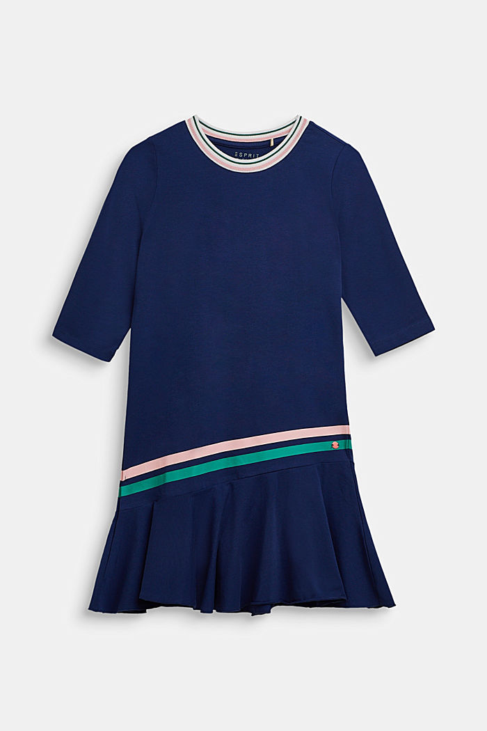 Jersey dress with stretch, MARINE BLUE, detail image number 0