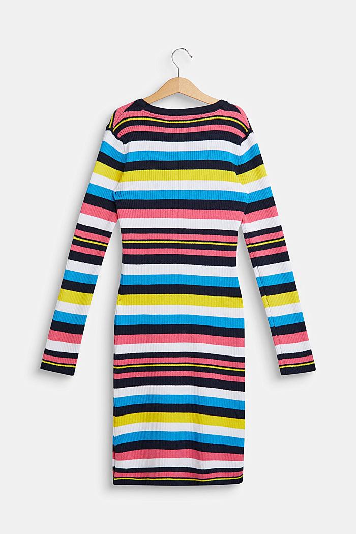 Bunt gestreiftes Kleid aus Ripp-Jersey, LCNAVY, detail image number 1