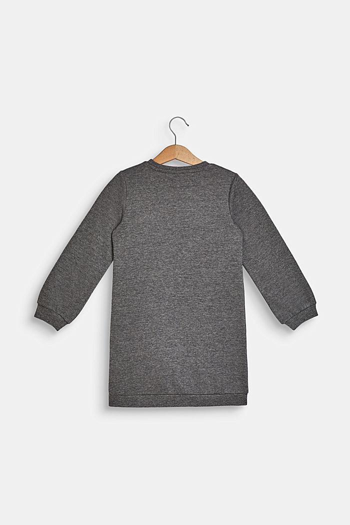 Sweatshirt dress with sequins, 100% cotton, DARK HEATHER G, detail image number 1