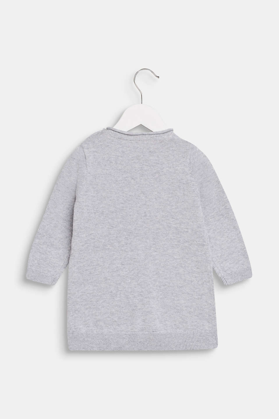 Jumper with a penguin motif, 100% cotton, LCHEATHER SILVER, detail image number 1