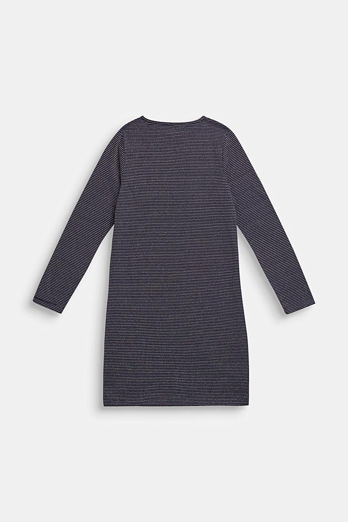 Jerseykjole med glitterstriber, NAVY BLUE, detail image number 1