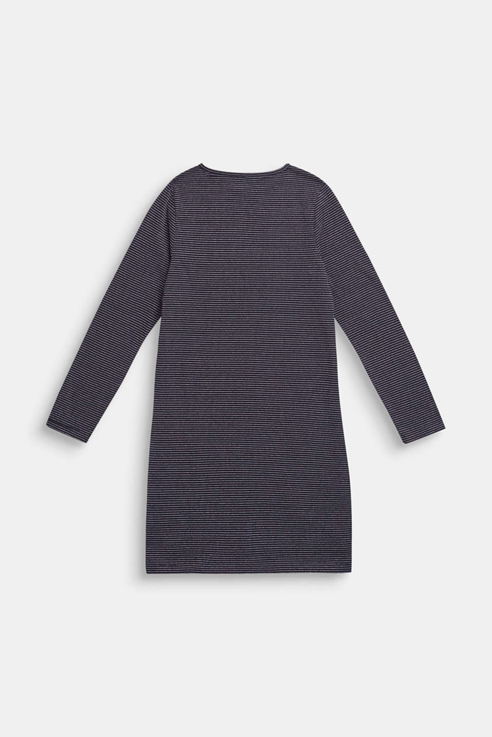 Jersey dress with glittery stripes, LCNAVY BLUE, detail image number 1