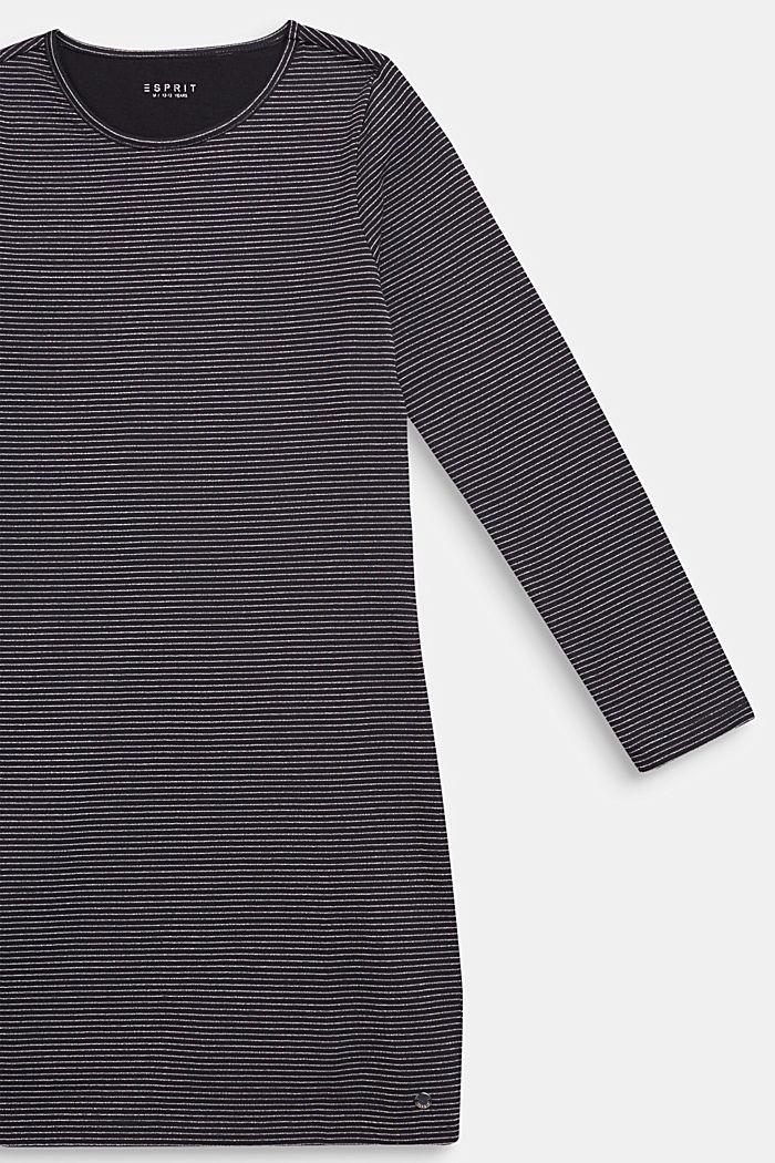 Jerseykjole med glitterstriber, NAVY BLUE, detail image number 2