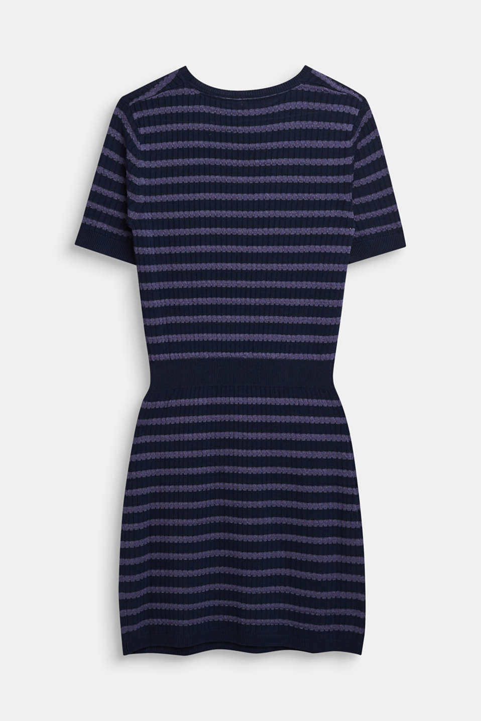 Knit dress with glittering stripes, LCNAVY BLUE, detail image number 1