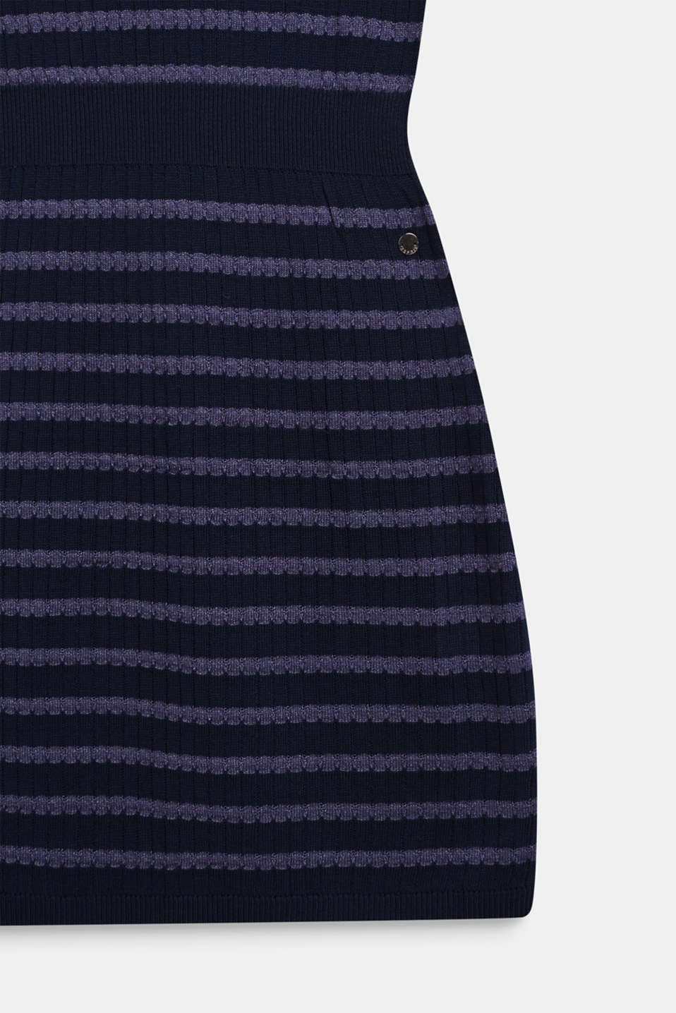 Knit dress with glittering stripes, LCNAVY BLUE, detail image number 2