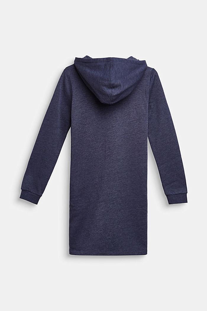 Hooded sweatshirt fabric dress