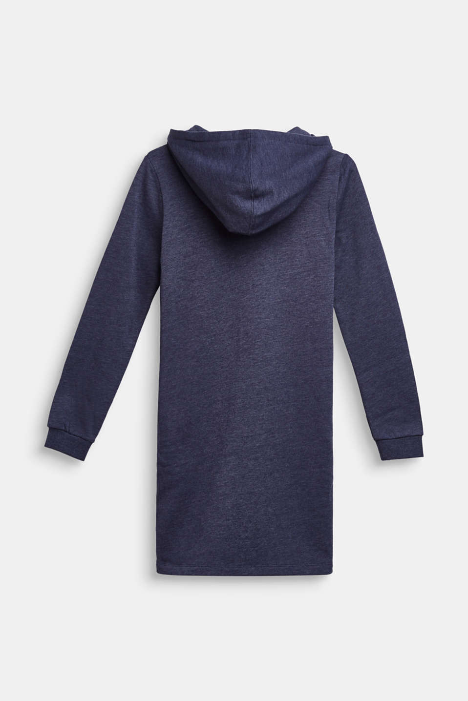 Hooded sweatshirt fabric dress, LCMIDNIGHT BLUE, detail image number 1