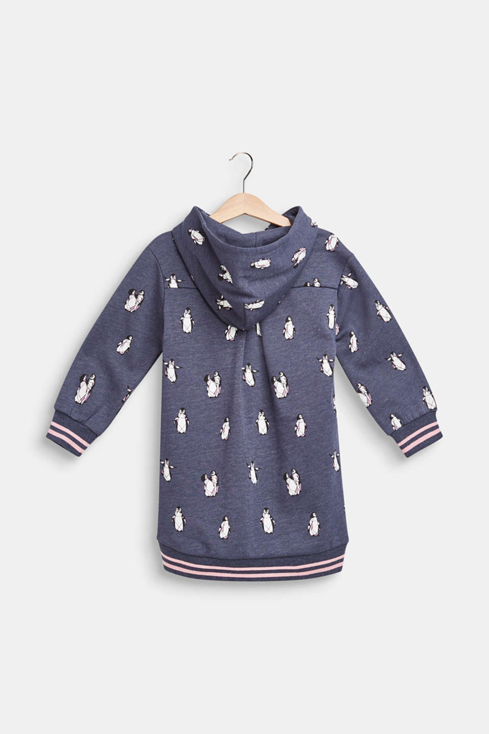 Hoodie with a penguin print, MIDNIGHT BLUE, detail image number 1