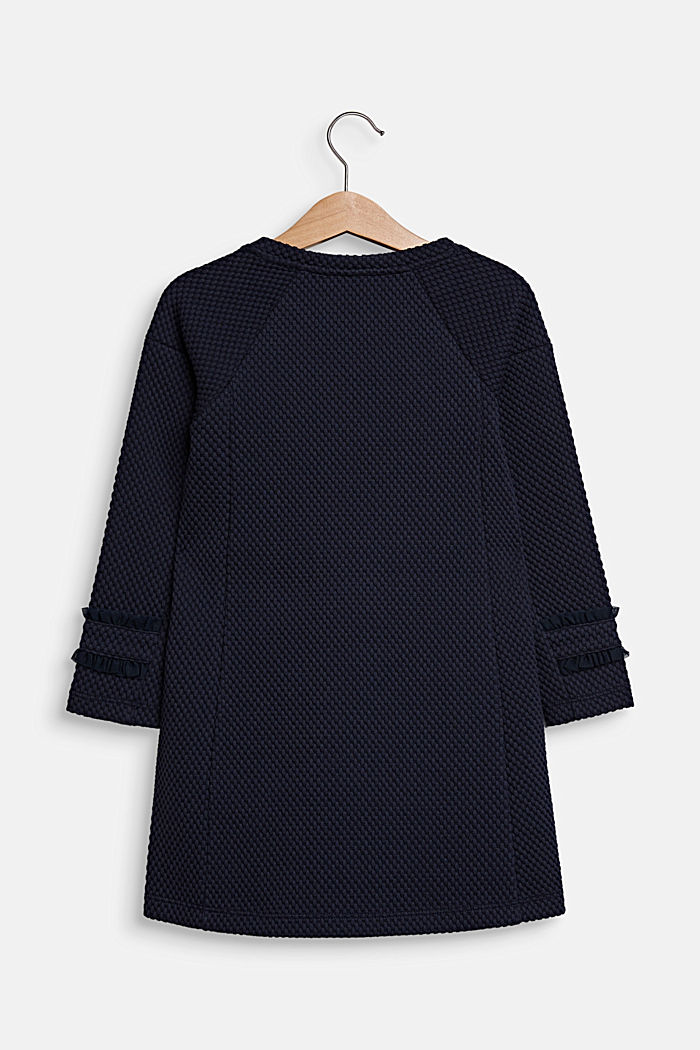 Dress made of textured jersey, NAVY BLUE, detail image number 1