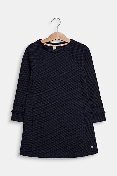 Dress made of textured jersey
