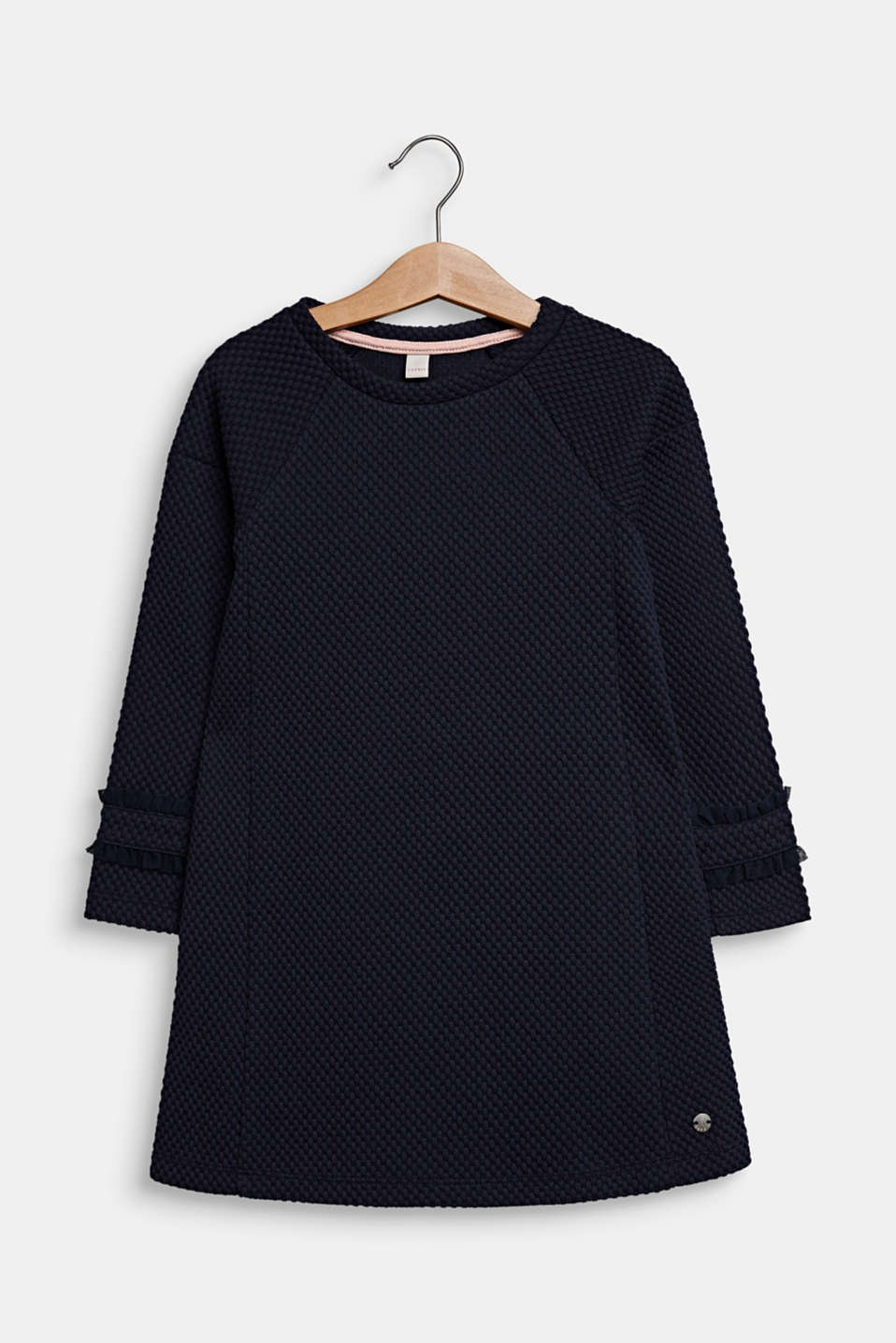 Dress made of textured jersey, NAVY BLUE, detail image number 0