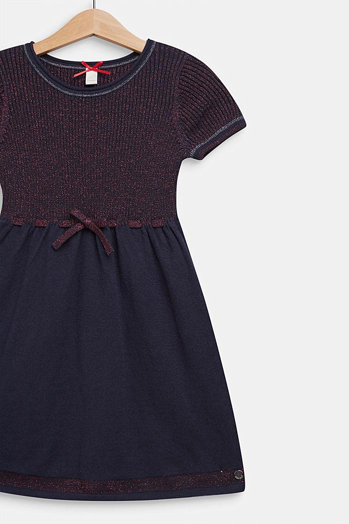Gebreide jurk met glittereffect, NAVY BLUE, detail image number 2
