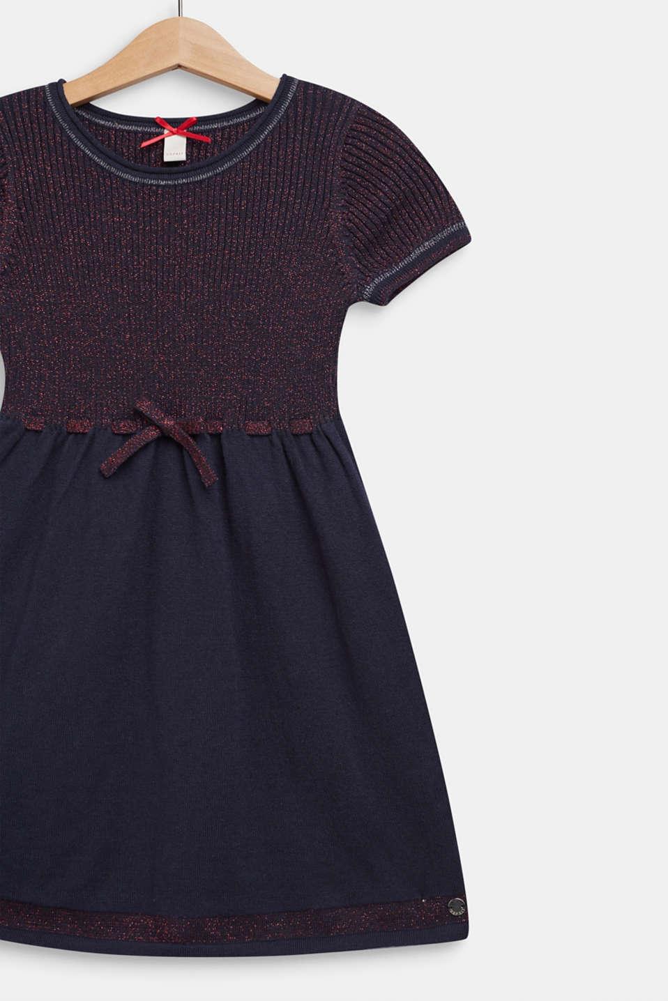 Glittering knit dress, NAVY BLUE, detail image number 2