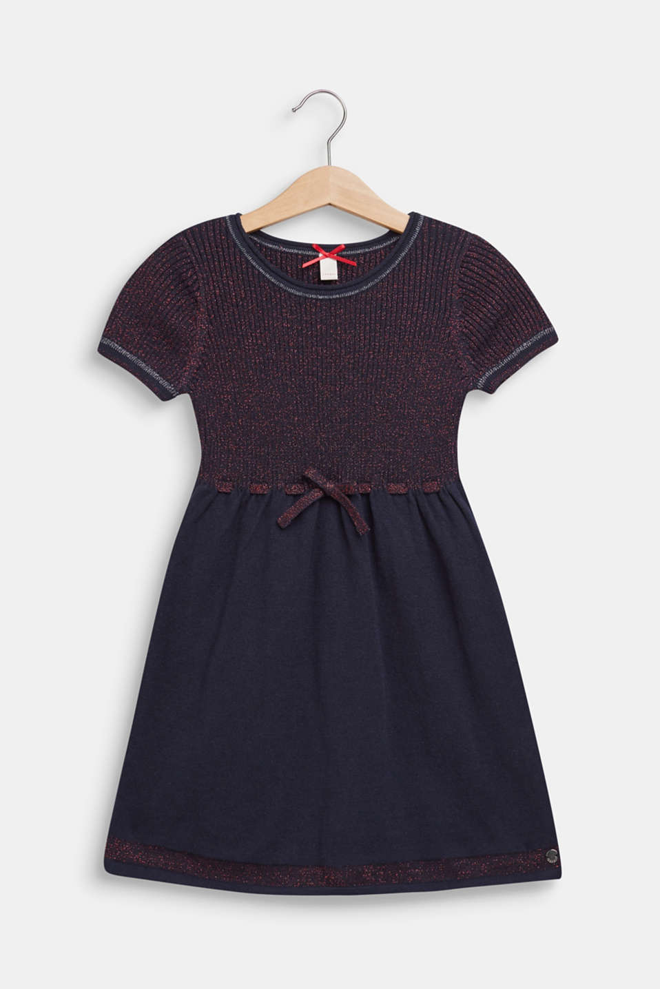 Glittering knit dress, NAVY BLUE, detail image number 0