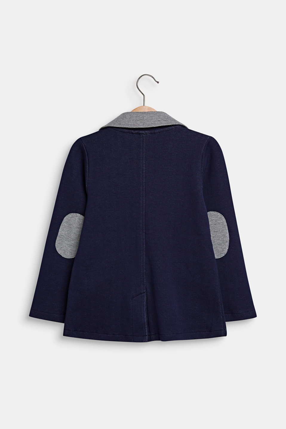 Sweatshirt fabric blazer with elbow patches, ULTRAMARINE, detail image number 1
