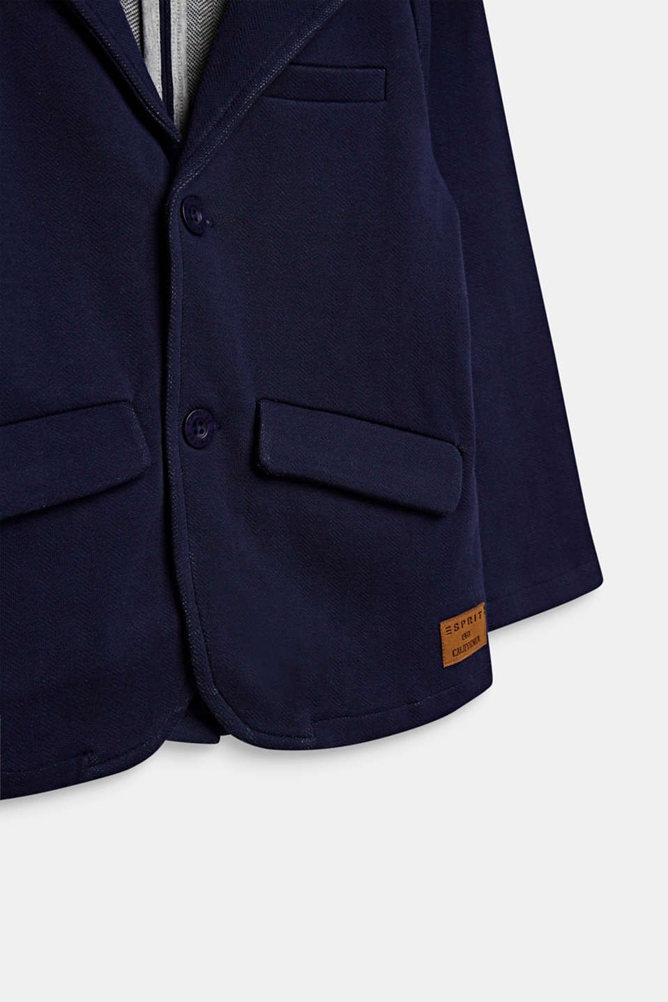 Sweatshirt fabric blazer with elbow patches, ULTRAMARINE, detail image number 2