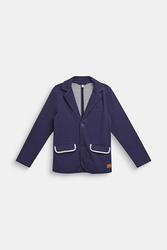 Sweatshirt blazer with piped pockets